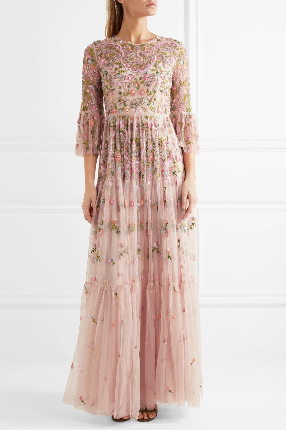 2ed81b98d57c Needle & Thread | Dragonfly embellished embroidered tulle maxi dress |  NET-A-PORTER.COM