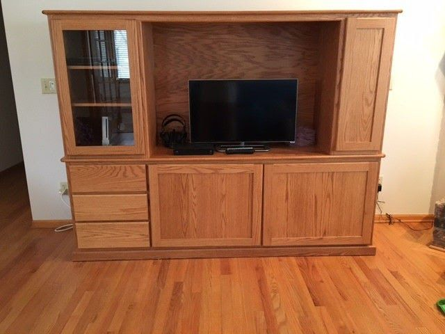 Entertainment Center TV stand Media Center: custom made by Amish craftsmen
