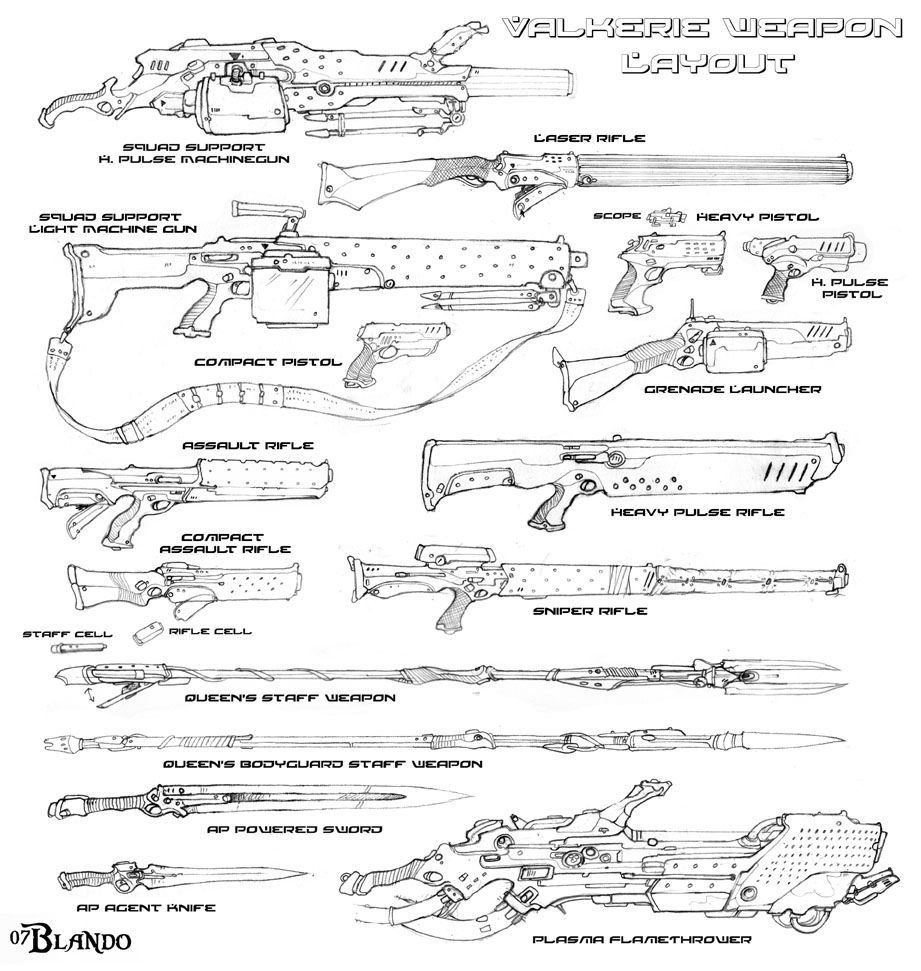 Weapons layout by Stormcrow135.deviantart.com on @deviantART