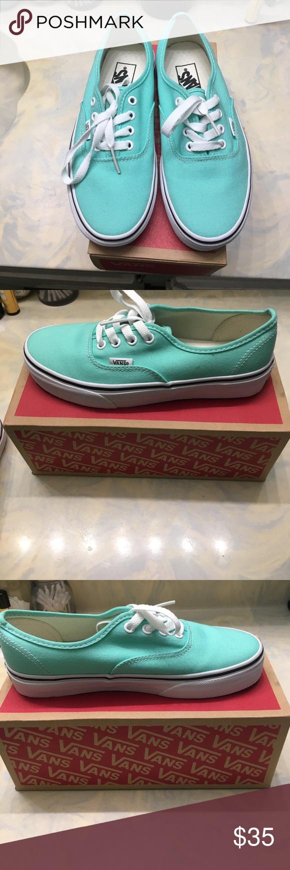 3bf29c9fd5 Vans shoes size 6.5 never worn Vans shoes size 6.5 never worn. Light light  turquoise  sea foam green color. Vans Shoes Sneakers