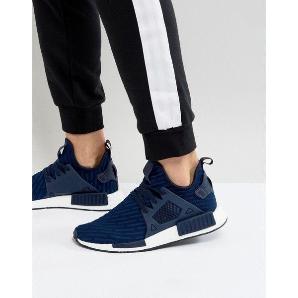 adidas Originals NMD XR1 PK Sneakers In Navy BA7215 150 liked on Polyvore