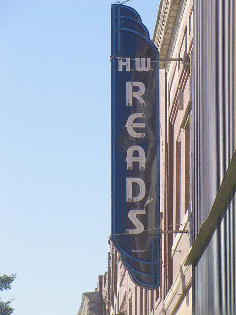 H W Read S Coffeyville Kansas Vintage Signs Retro Sign