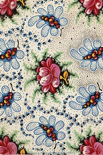 Rose textile design from the Mulhouse Pattern Book. France, 19th century