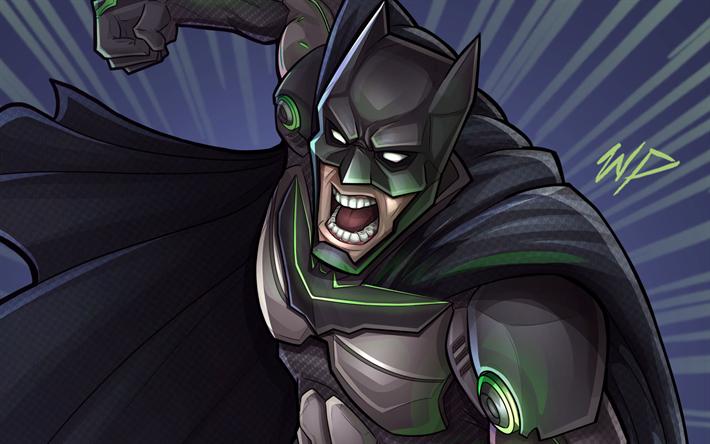 Download Wallpapers Batman Superheroes 2017 Games Injustice 2 Besthqwallpapers Com Batman Fondos De Pantalla Batman Injusticia