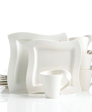 New Wave 12 Piece Set Service For 4 Villeroy Boch Everyday Dinnerware Set Dinnerware Sets