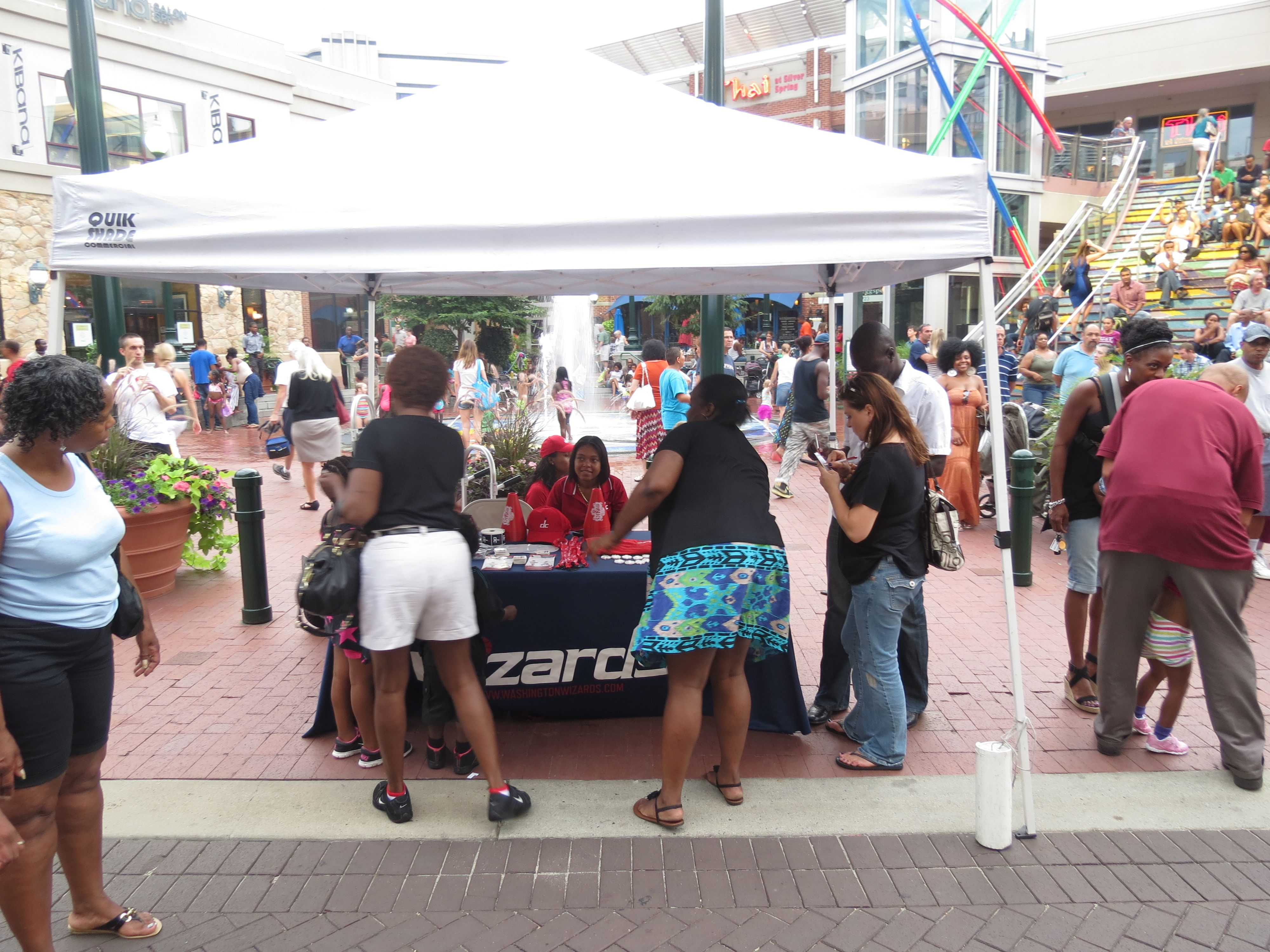 The Mystics Promo Squad at the Downtown Silver Spring concert series Ro Cube & Friends on July 27th, 2012.