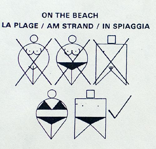 This nifty sign will make sure you pick the right outerwear for your beach day! hahahaha