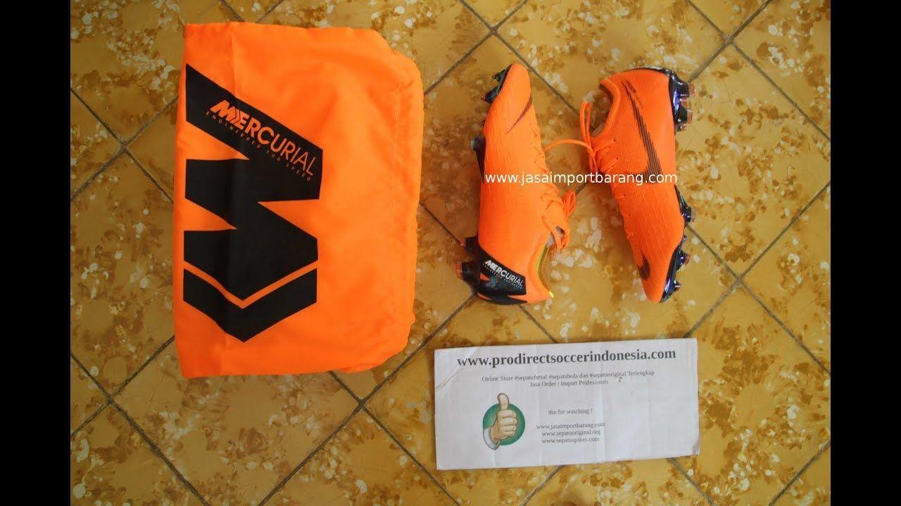 Sepatu Bola Nike Vapor 12 Elite Fg Total Orange Ah7380810 Original