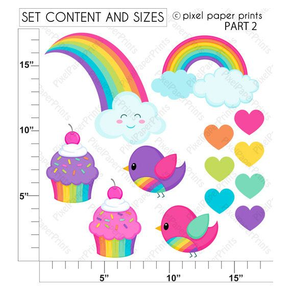 Rainbow clipart RAINBOW GIRLS Clip art and Digital Paper
