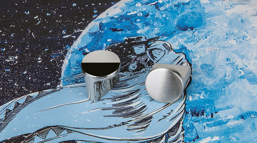Chrome Cabinet Drawer Knobs by Colombo Design From They're Formae Line