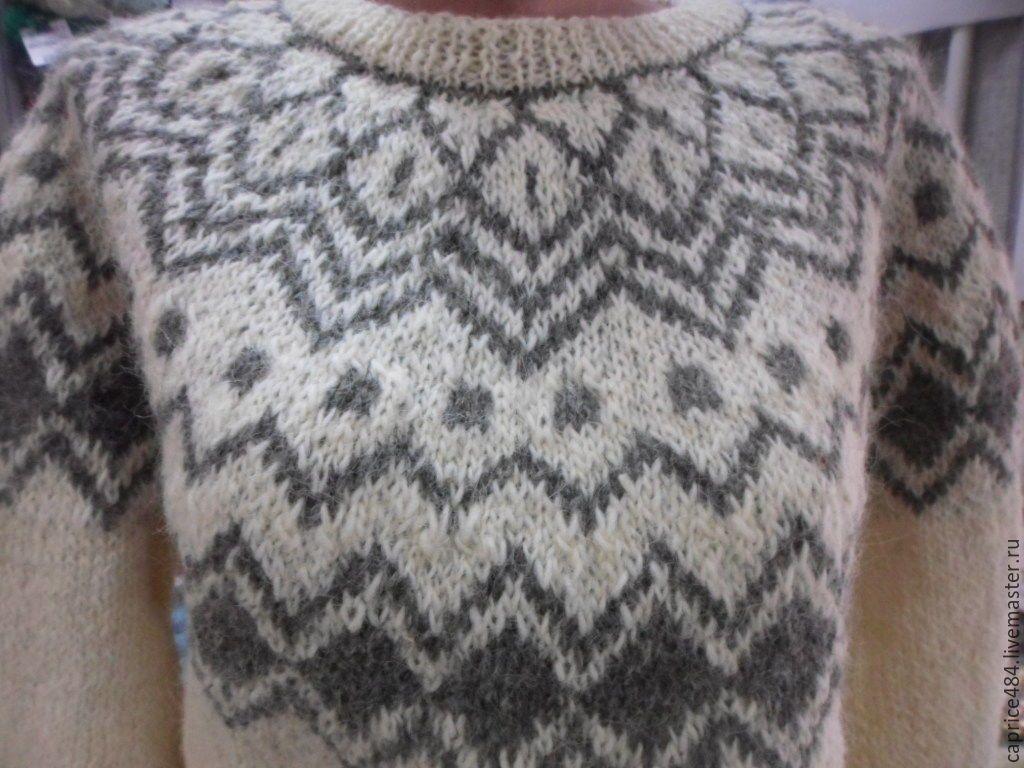 мужской свитер кокетка с орнаментом схема