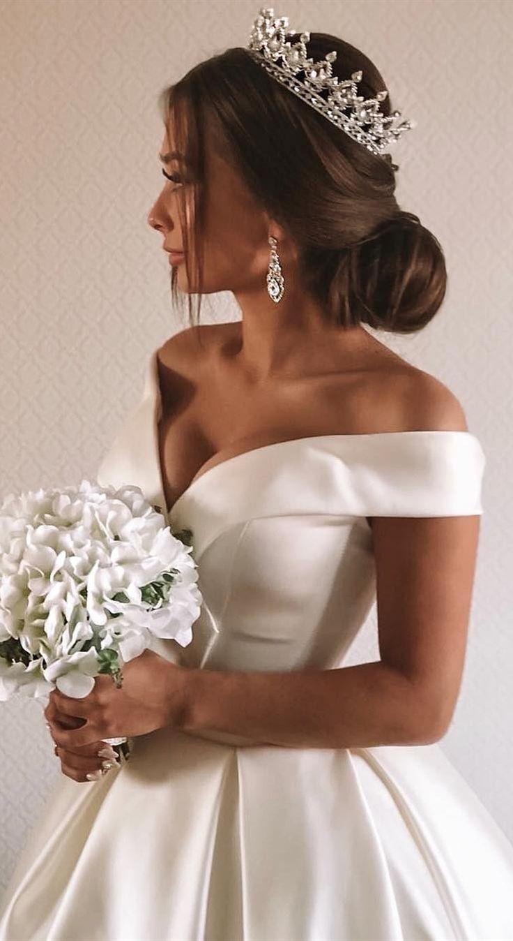 Elfenbein Nation nachhaltig Brautkleider Schulter Brautkleider