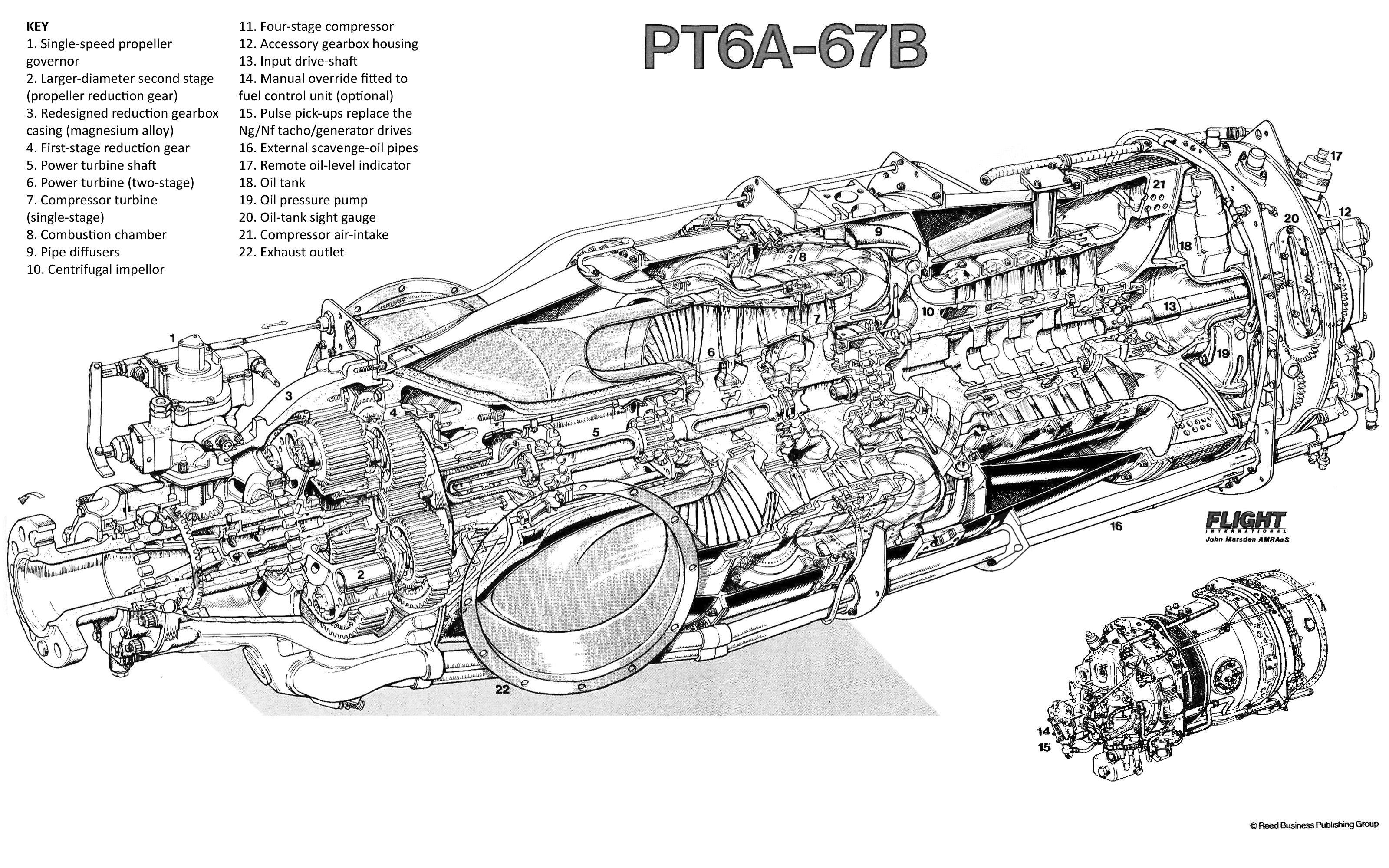 Pt6a 67b Turbina