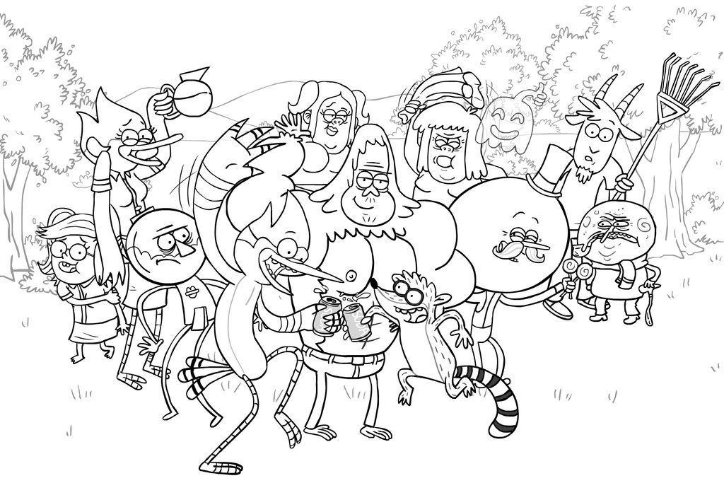 The Regular Show Characters Coloring Pages Super