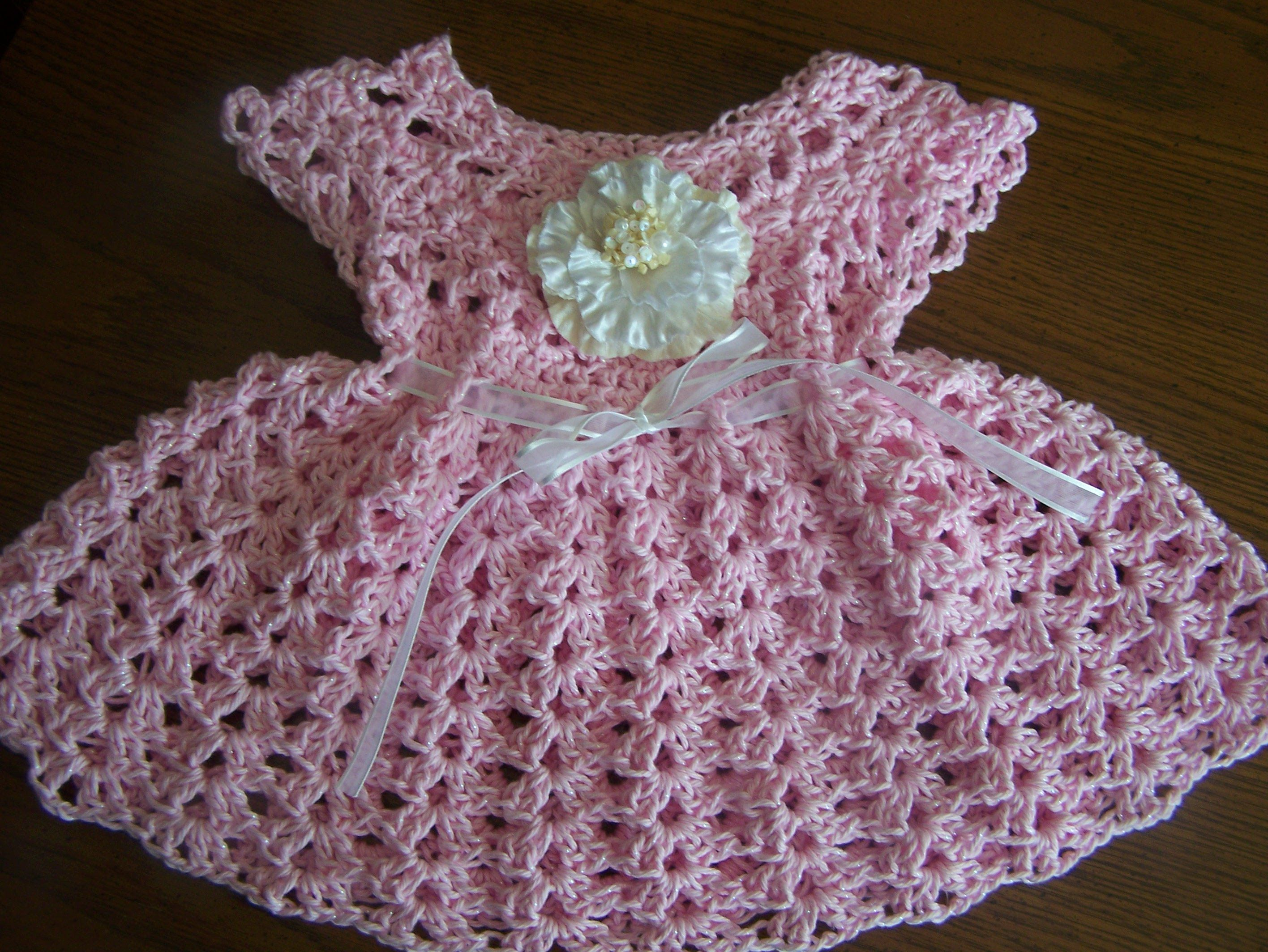 video3 crochet sparkle cotton baby girl spring summer dress ...