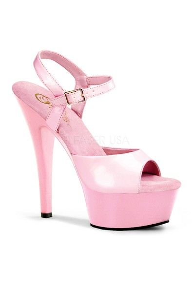 9452d2d1587 The features for these heels include a patent faux leather upper with a  scoop vamp