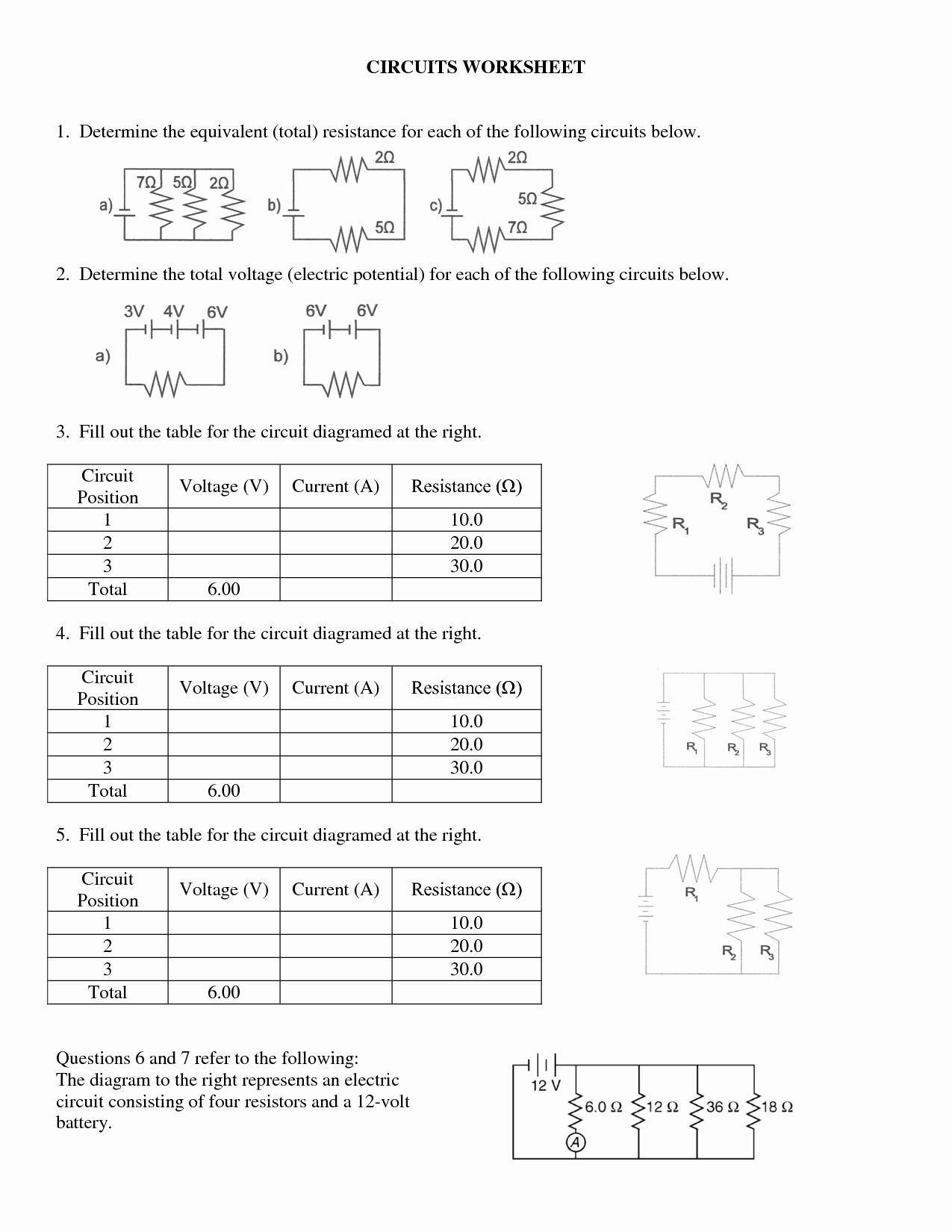 50 Series And Parallel Circuits Worksheet In