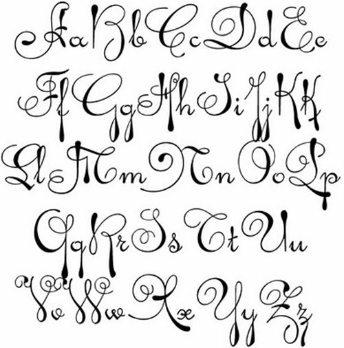 Gallery For Pretty Cursive Letters A Z Dance Lettering Fonts