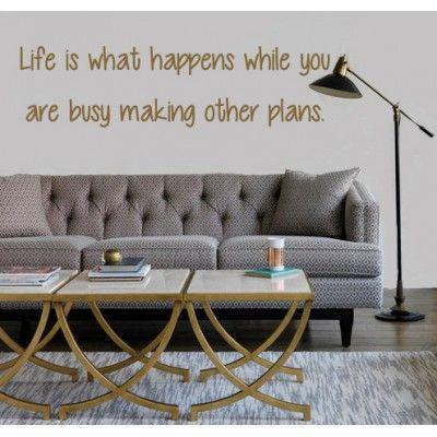 Muursticker - Muurtekst Life is  - Wallsticker - Woningdecoratie - decoratie - wanddecoratie