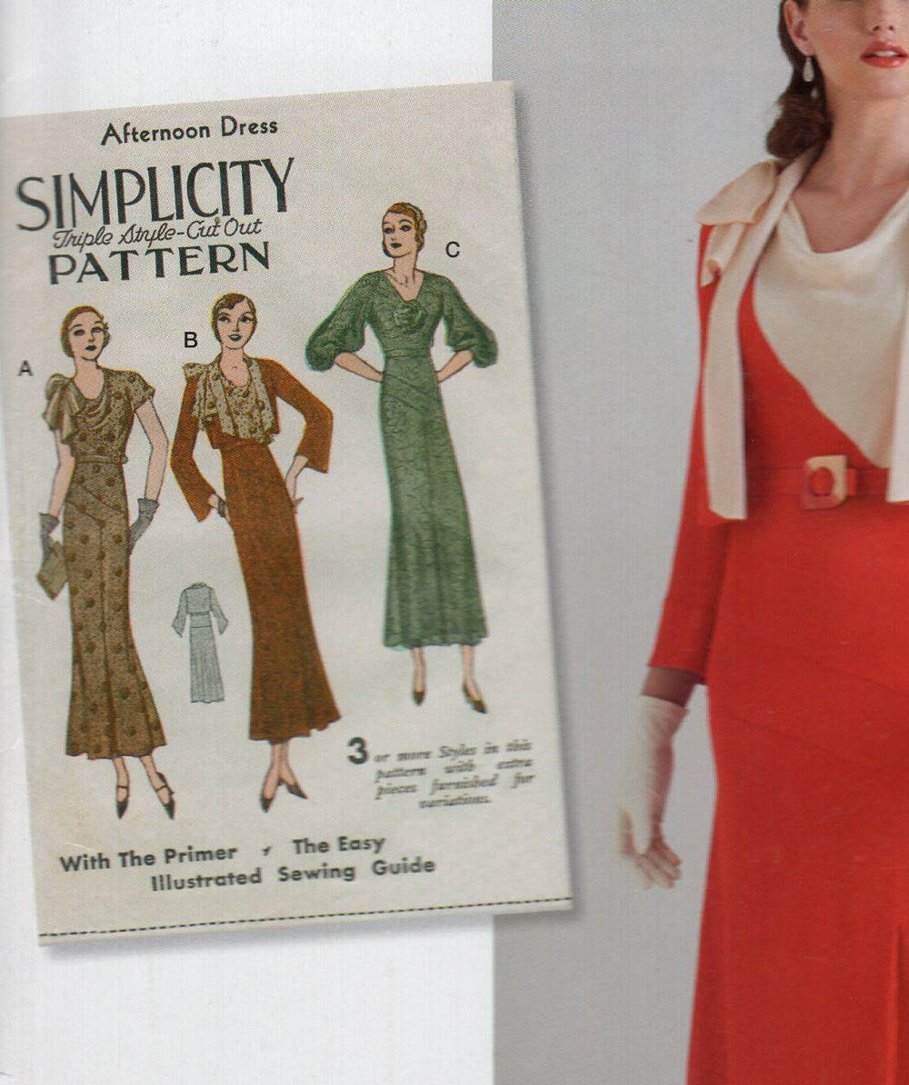 Simplicity 0575 8247 free us ship sewing pattern vintage 1930s simplicity 0575 8247 free us ship sewing pattern vintage 1930s afternoon dress size 614 jeuxipadfo Choice Image