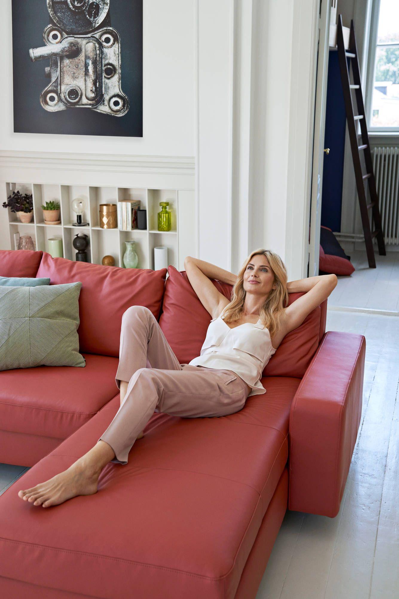 Stressless Sofa E200 Als 2er Mit Longseat In Paloma Henna Modern