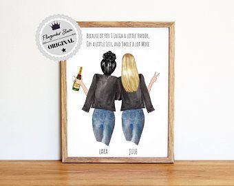 Gift Best Friend | Best Friend Birthday | Gift Idea | Girlfriend Picture | Sister Gift Idea | Gift Ideas Girlfriend Poster