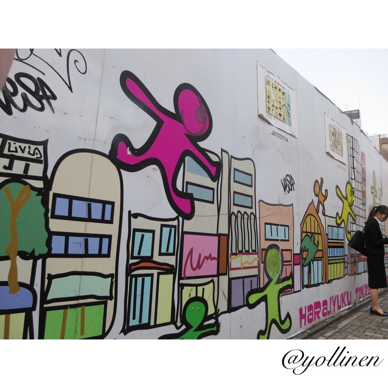 Graffiti wall tokyo - Takeshita Street Graffiti Wall At Harajuku Tokyo Harajuku Takeshita Japan Canon