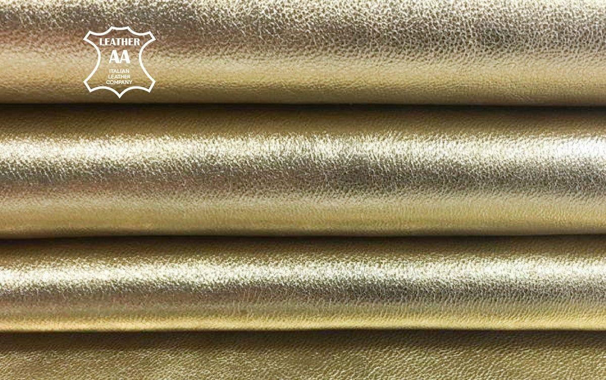 2 oz GREEN Metallic fabric Genuine Sheep Leather Hides Real Lambskin VERDE 699