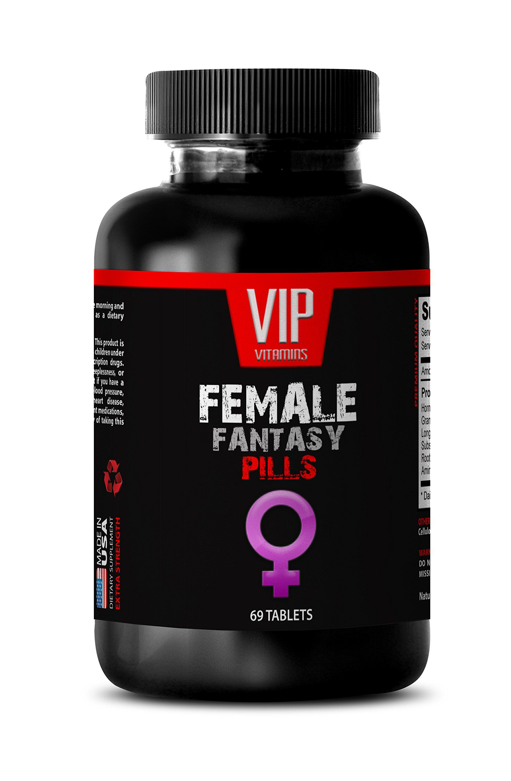 Libido Enhancer For Women FEMALE FANTASY NATURAL FORMULA Tongkat Ali Horny  Goat Weed 1 Bottle 69 Tablets >>> Visit the image link more details.