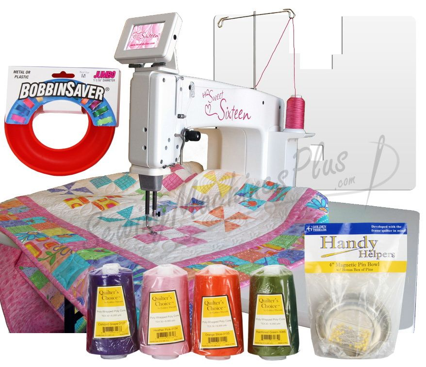 Handi Quilter Sweet Sixteen Long Arm Show Model Sit Down Package Handi Quilter Sewing Machine Brands Long Arm Quilting Machine