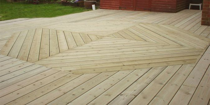 Large Deck Boards ~ Deck board layout patterns large made attractive