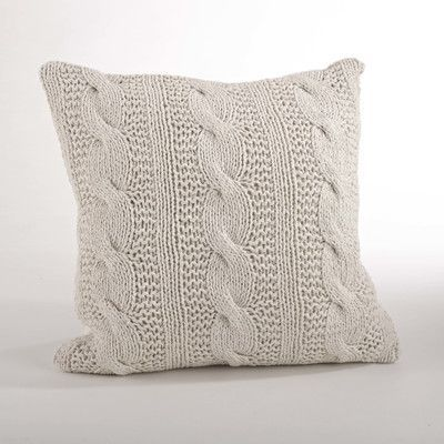 Kelly Clarkson Home Remy Cable Knit Cotton Feather Throw