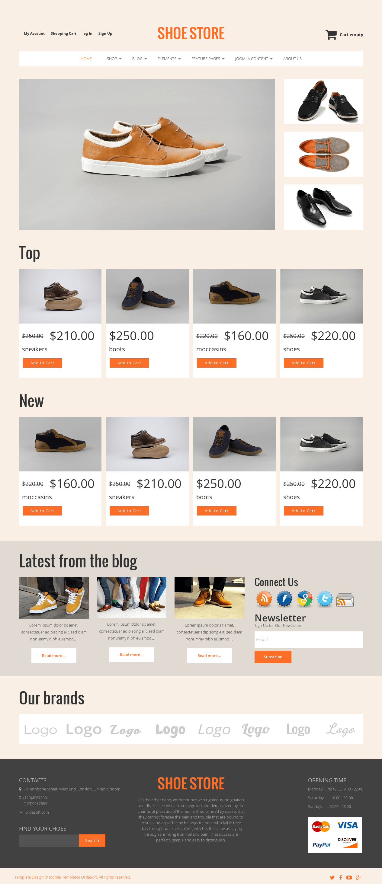 Meet Shoe Store - minimal #eCommerce #website template based on new ...