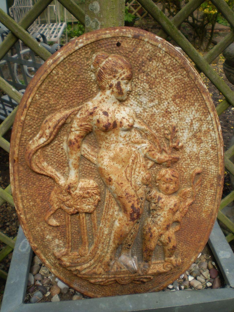 Garden wall plaque - The Garden Room Vintage French Cast Iron Courtyard Garden Wall Plaque 149 00