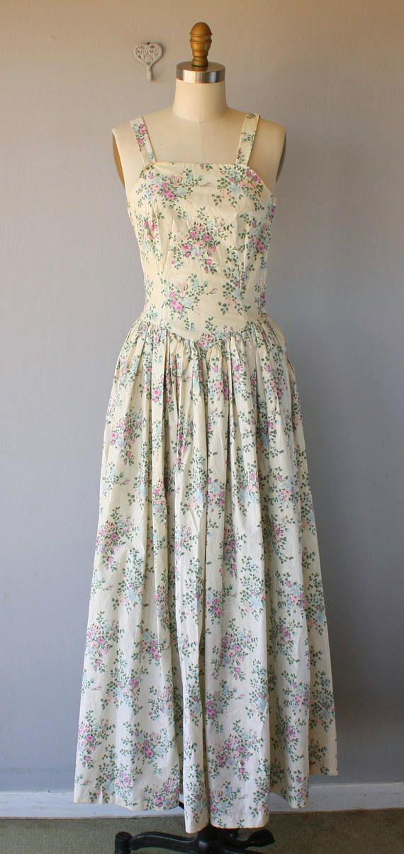 Vintage 1940s Maxi Dress 40s Dress 1940s Gown 1940s | 1940s Fashion ...