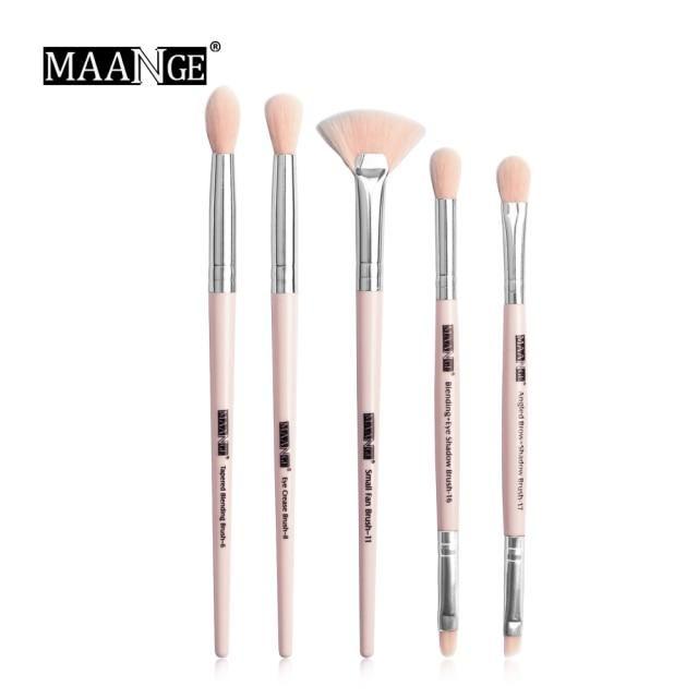 Photo of MAANGE Pro 3/5/12 Pcs Makeup Brushes Set Eyeshadow Eyeliner Eyelash Eyebrow Brush Beauty Make up Blending Tools Maquiagem – 5pcs Pink / China