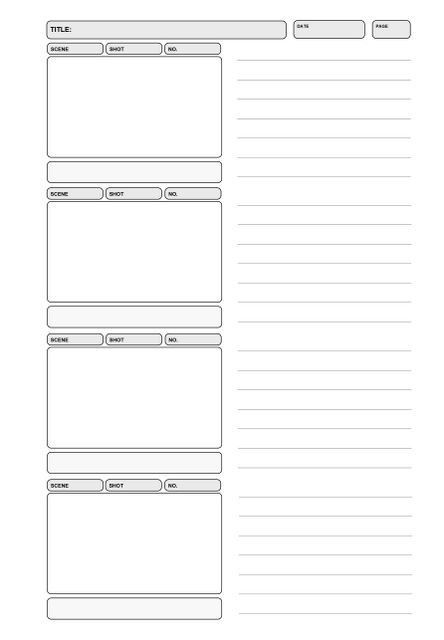 Storyboard 16 9 Cinema Notebook In 2020 Storyboard Storyboard