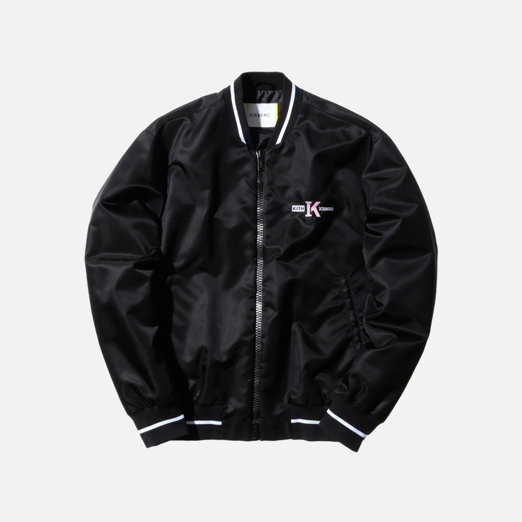 Kith X Iceberg Bomber Black Bomber Bomber Jacket Black [ 1024 x 1024 Pixel ]