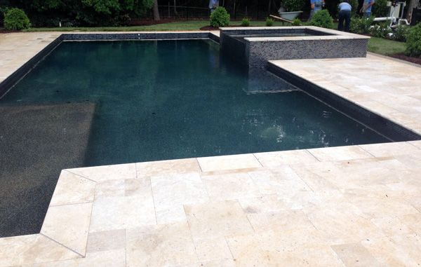 Premier-Stone - Ivory Travertine Pool Deck