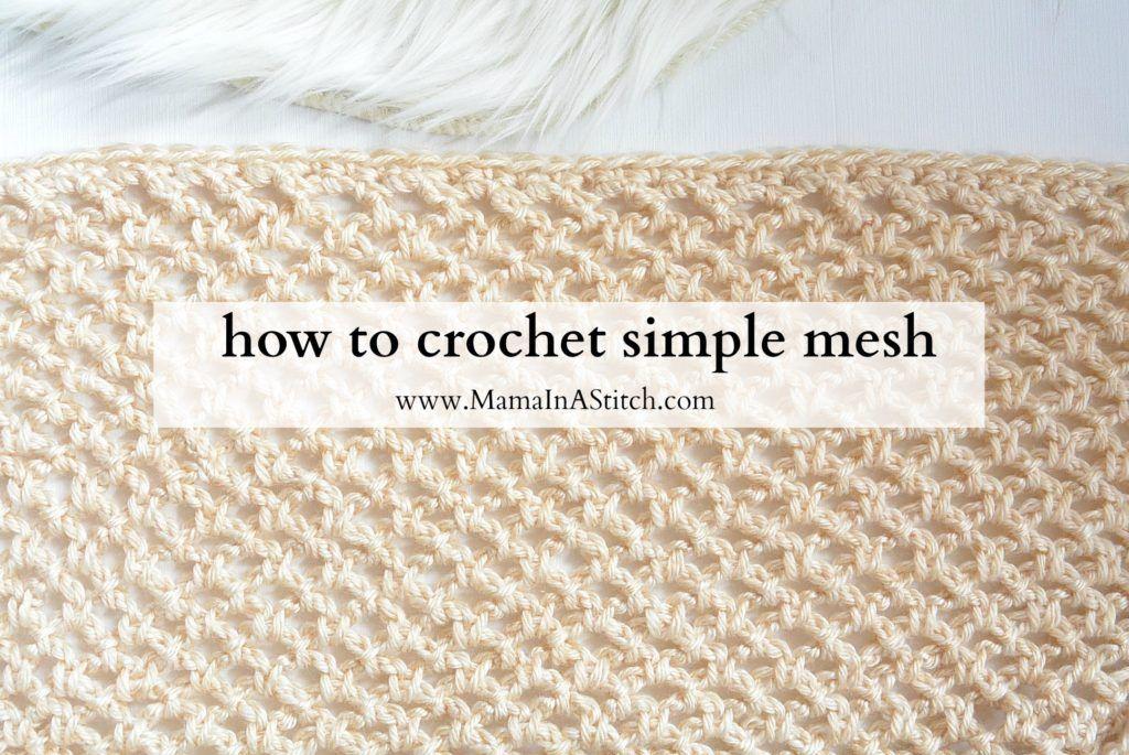 how-to-crochet-simple-mesh | Crochet | Pinterest | Tejido, Patrón de ...
