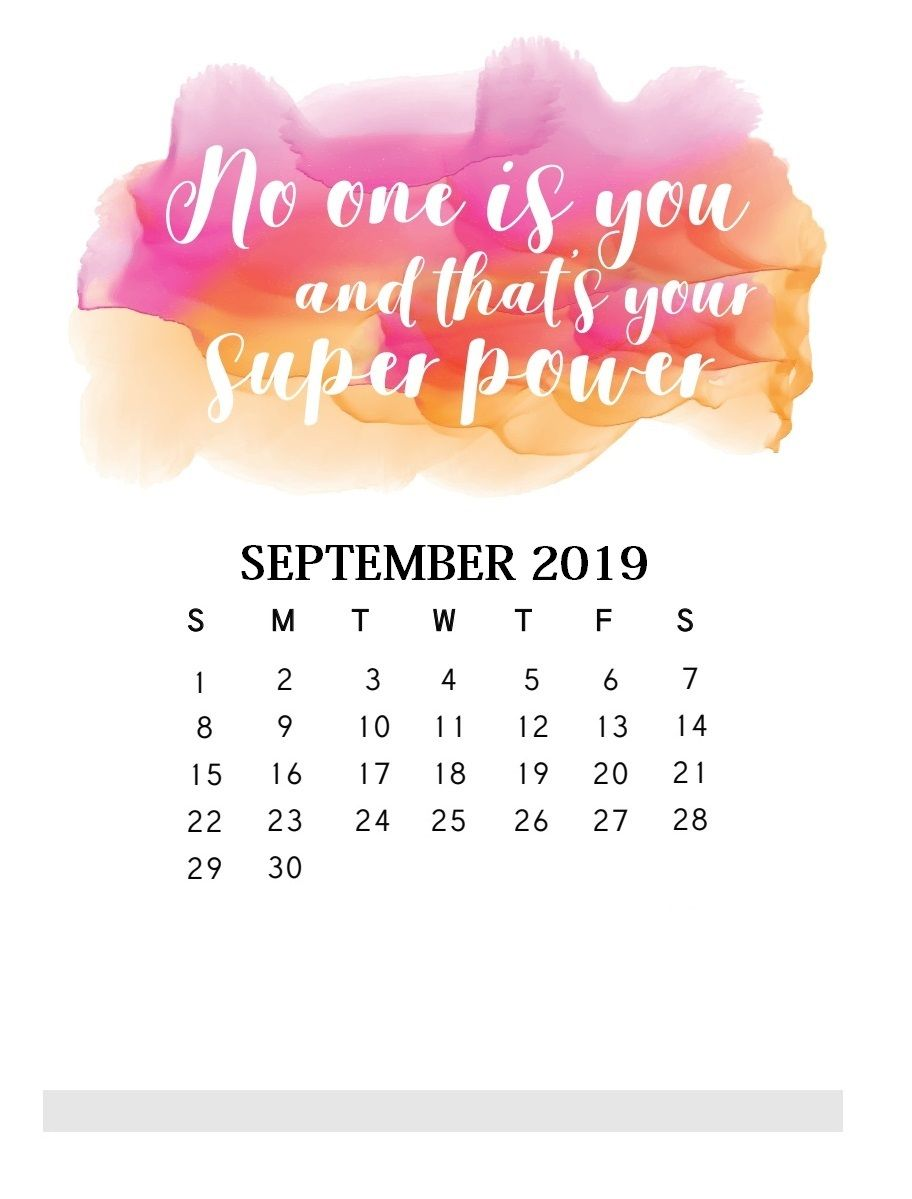 February 2020 Calendar Daily Quotes For Each Day Motivational Quotes September 2019 Calendar | calendars | Calendar