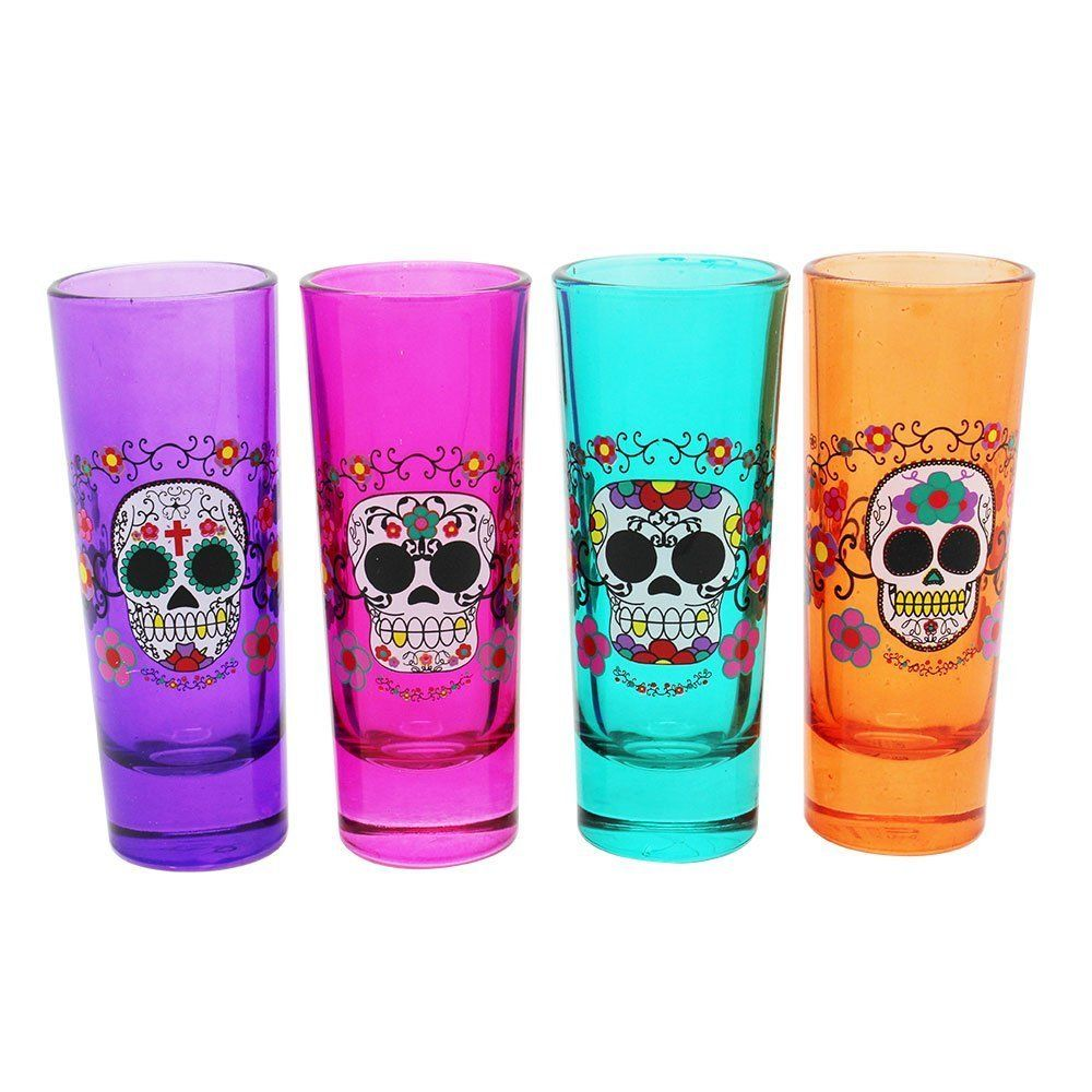 Holdings Candy Skull Shooter Shot Glass (Set of 4) - My Sugar Skulls ...