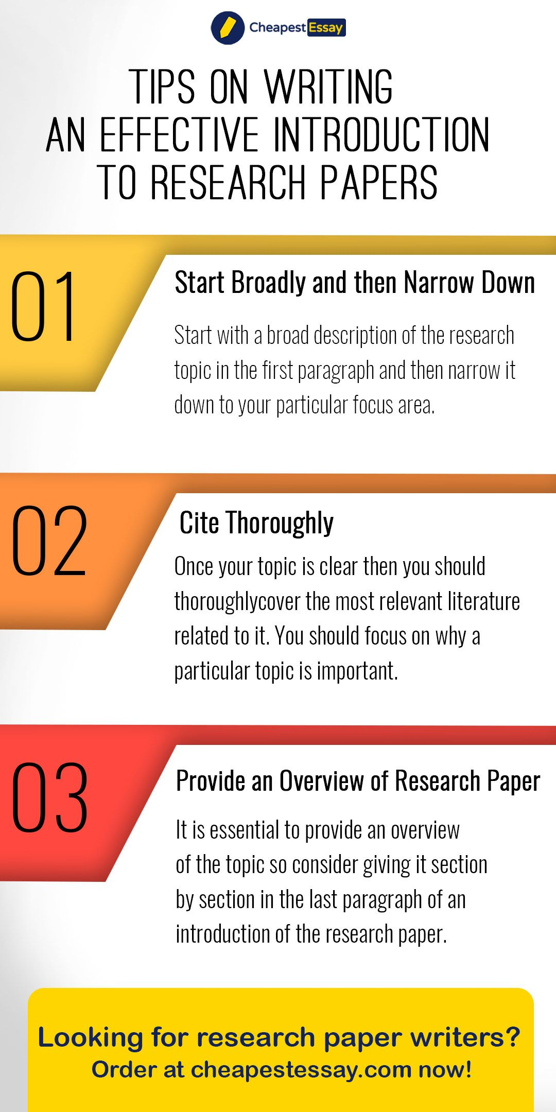 Tip On Writing An Effective Introduction To Research Paper Service For A Pdf How Write In Apa Format 6th Edition History