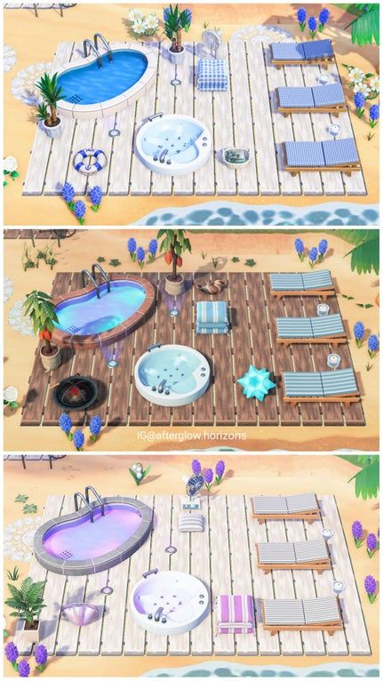 Similar style of pool area for all 3 pool variatio