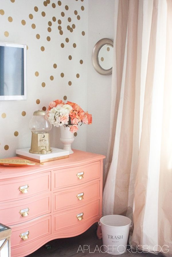 ForRentcom Decorating Your Apartment With Gold Vinyl Wall - Wall decals polka dots