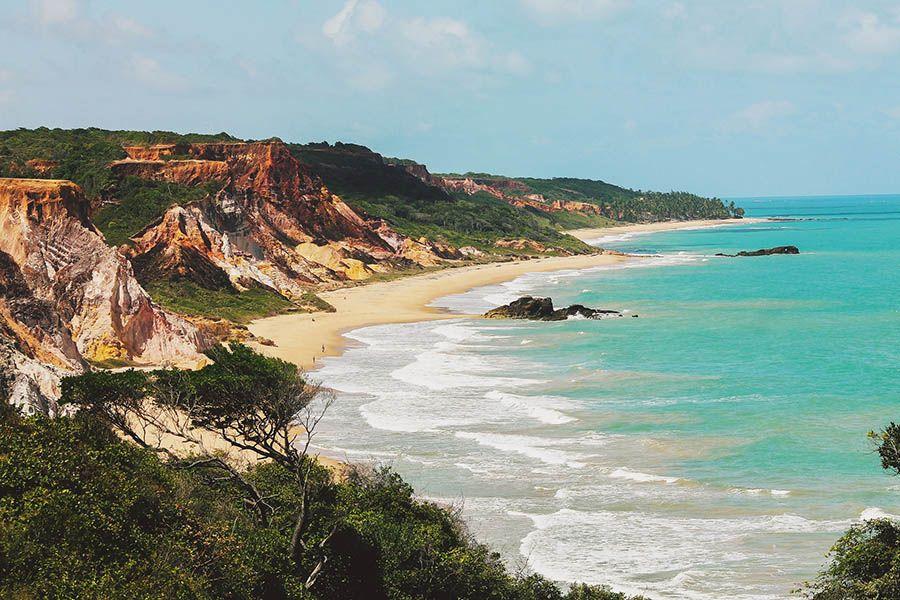 Praia De Tambaba, Conde PB Brazil Stock Image - Image of