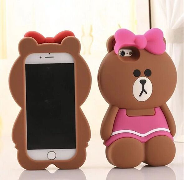 info for c1be1 40b37 Cute Cartoon Pink Bear Silicone Case for iPhone 5 5s 6 6s plus SE 7 ...