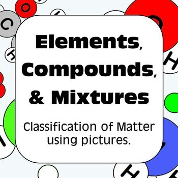 Elements, Compounds, and Mixtures Classification of Matter ...