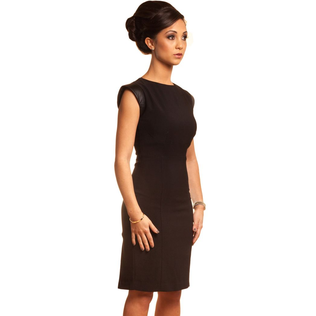 Petite Black Shift Dress For Work - Petite Little Black Business ...