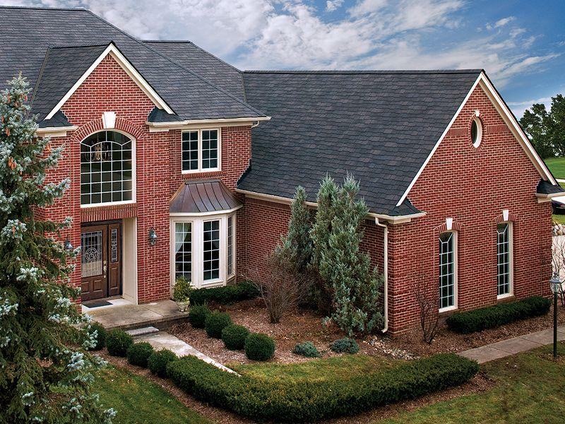 Gaf Woodland Shingle Photo Gallery Roof Shingle Colors Red Brick House Brick Siding